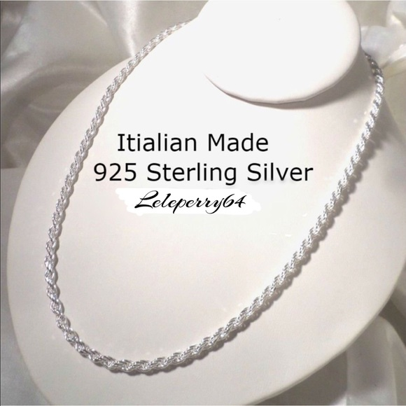 Other - NWT... Sterling Silver Rope Chain